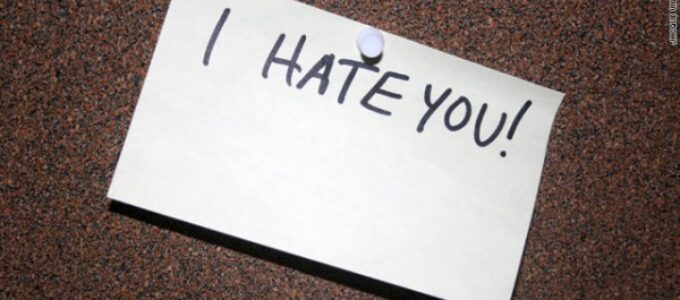 Ódio faz mal à saúde